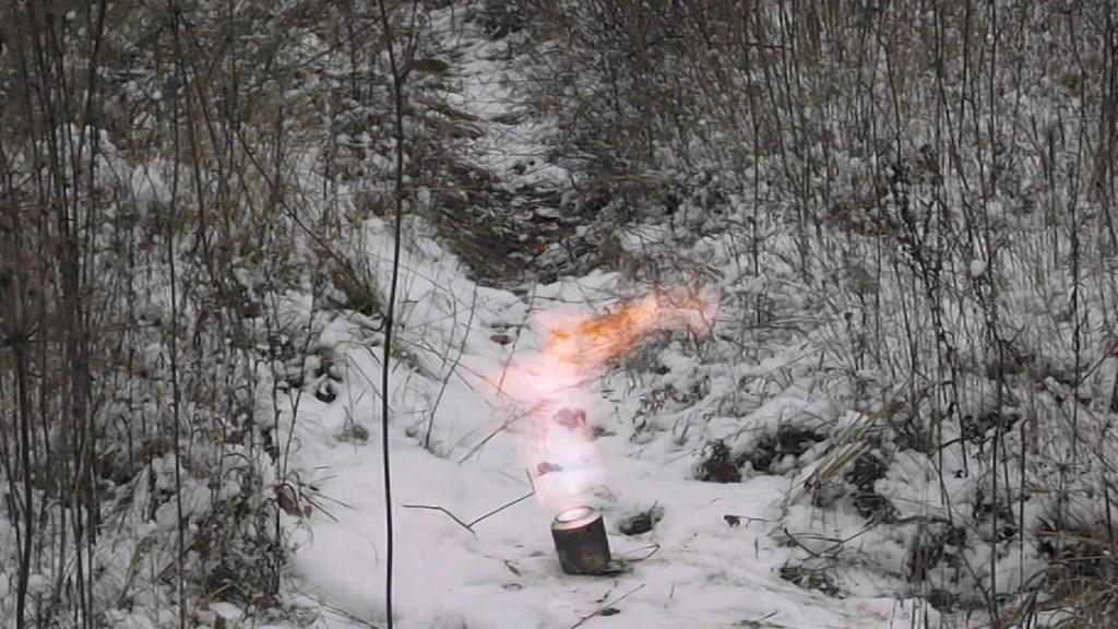 Вспышка нитроглицерина при нагревании (1 мл)