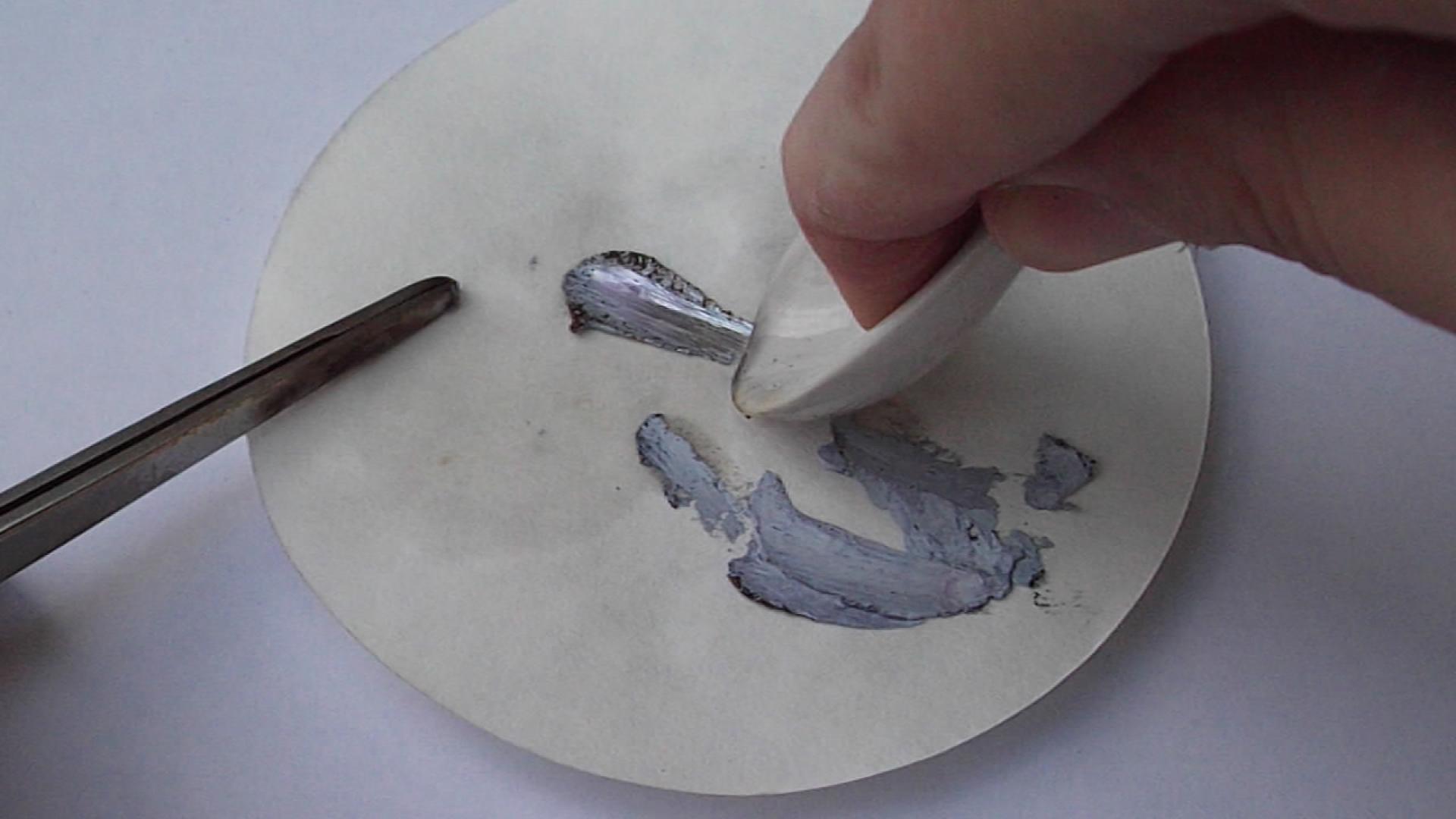 Калий на фильтровальной бумаге