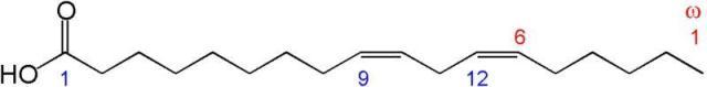 Линолевая кислота (структура)