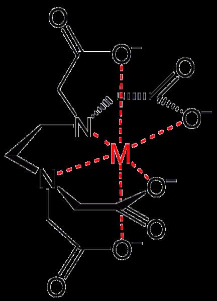Комплекс катиона металла с этилендиаминтетрауксусной кислотой