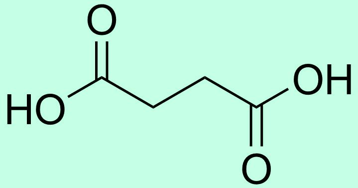 Янтарная кислота (структура)