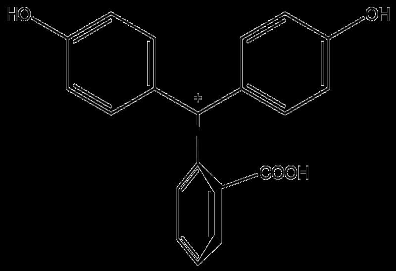 Фенолфталеин pH < 0