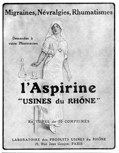 Реклама аспирина (1923 г.)