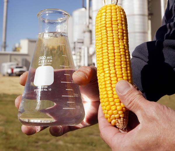Этанол, полученный из кукурузы