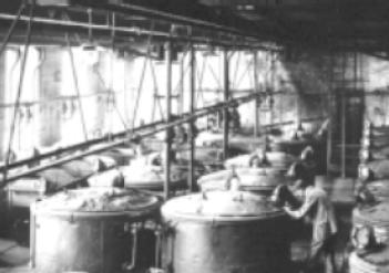 Производство индиго на заводе фирмы BASF (1890 г.)