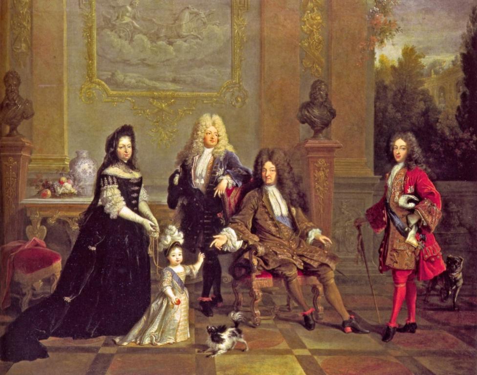 Портрет Людовика XIV с семьей