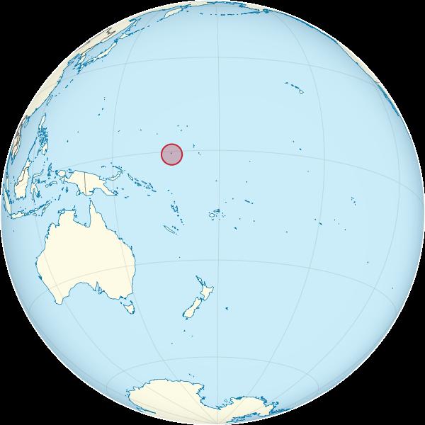 Остров Науру на карте