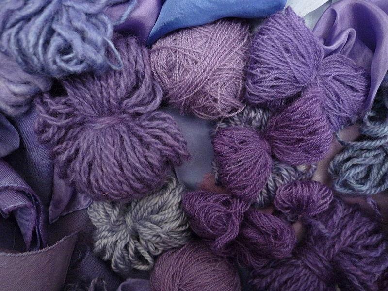 Шерсть, окрашенная пурпуром