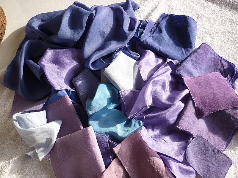 Шелк, окрашенный пурпуром