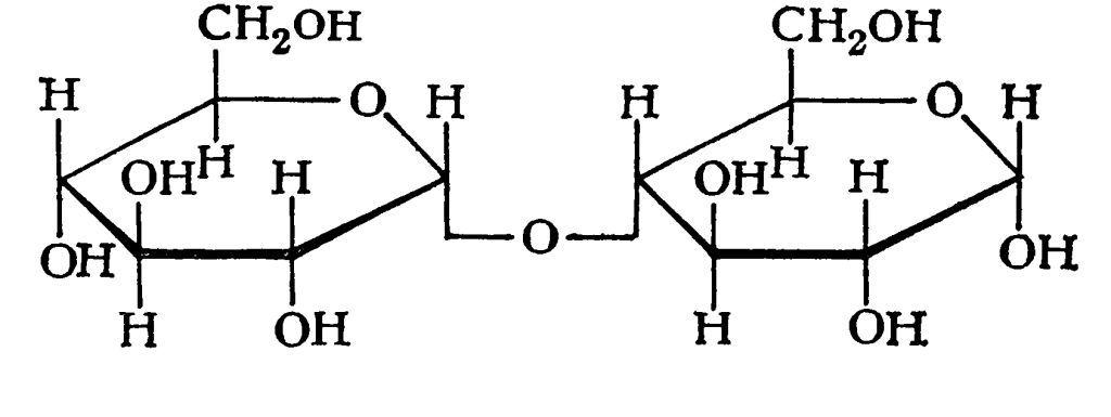 Две молекулы β-глюкозы