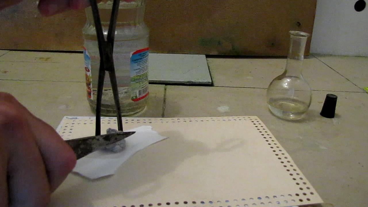 Воспламенение белого фосфора