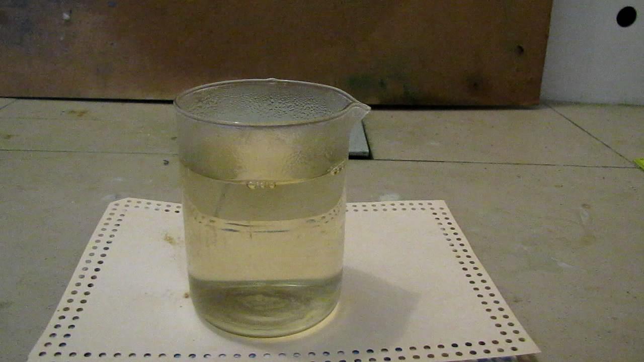 Растворение фосфора в гексане