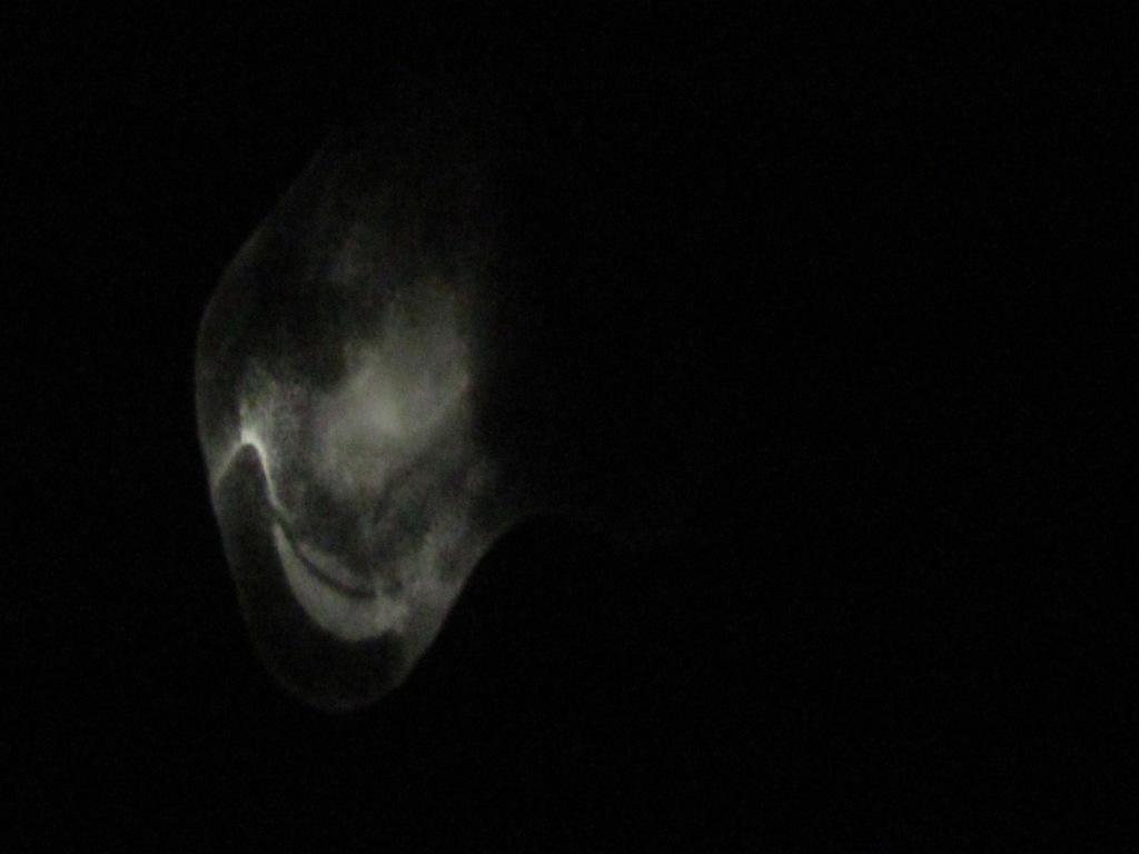 Свечение фосфора после испарения гексана