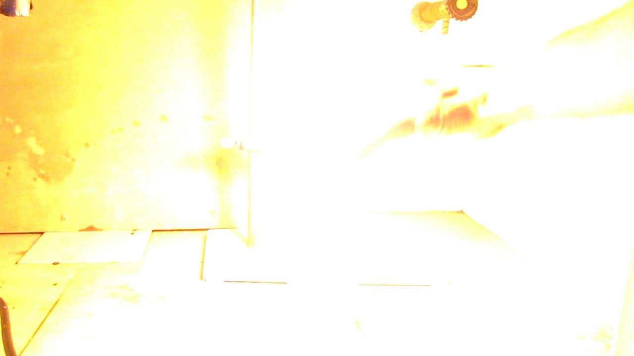 Воспламенение фосфина в колбе