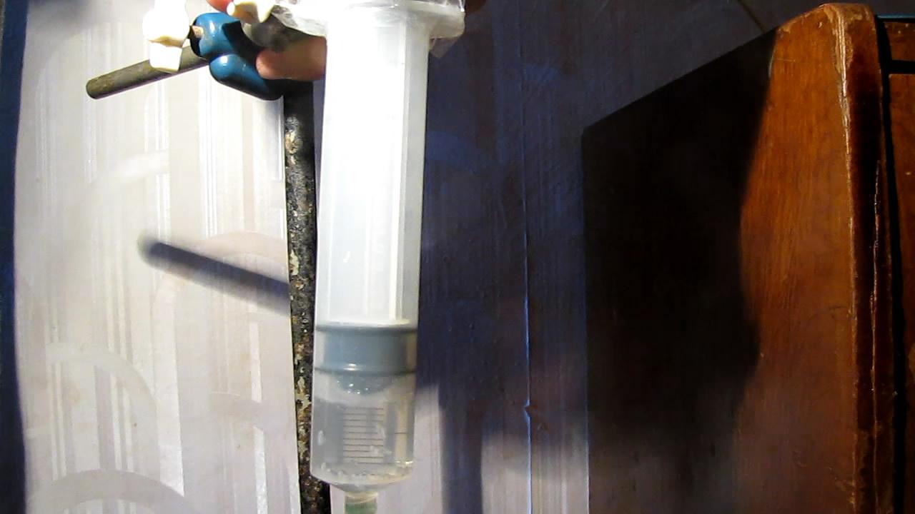 Кипение раствора аммиака в вакууме. Boiling of ammonia solution (aqueous ammonia) in vacuum