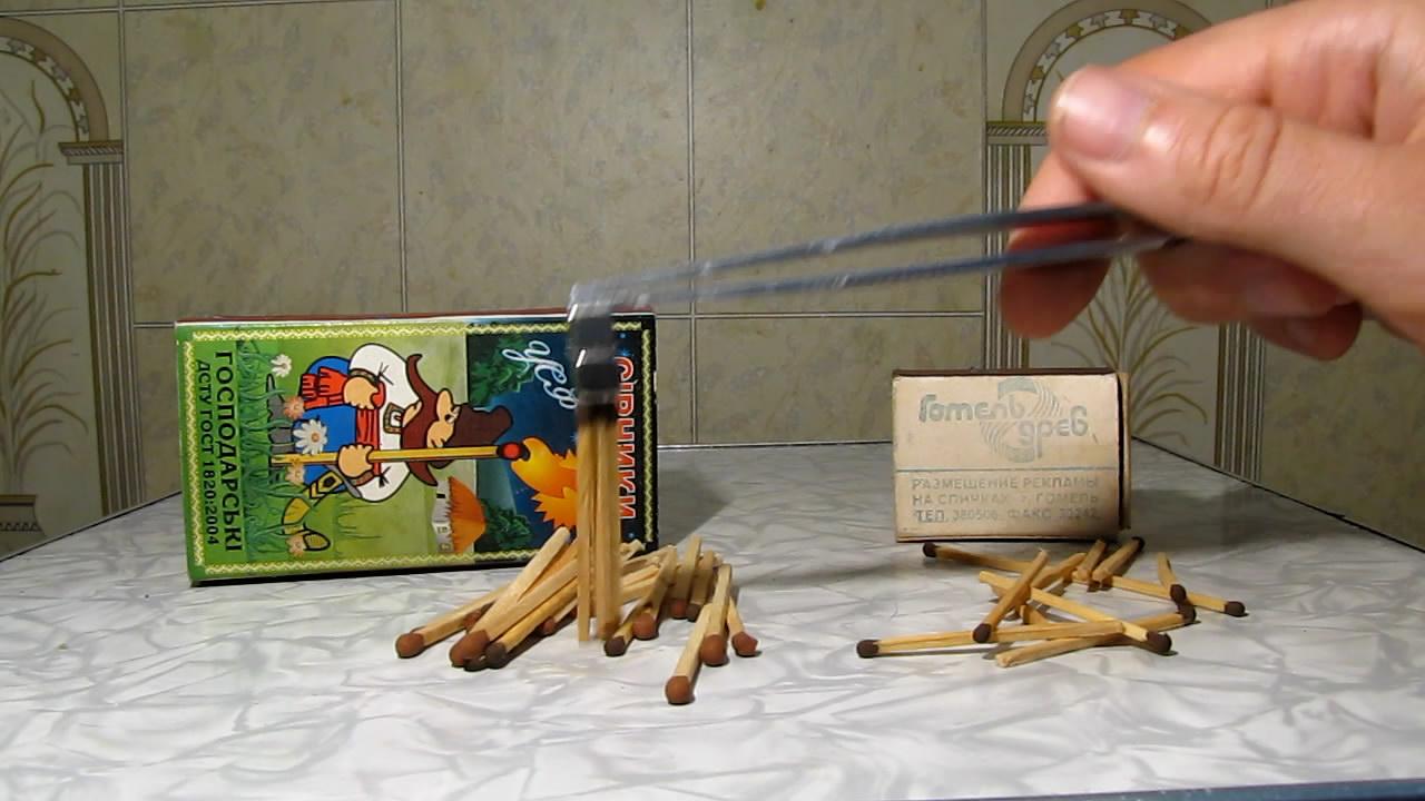 Спички (новые и старые) и неодимовый магнит. Matches (new and old) and neodymium magnet