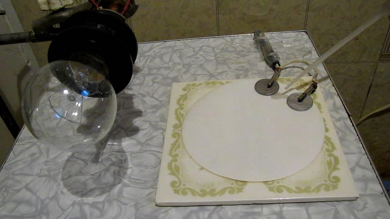 Хлорид натрия, фильтровальная бумага и электрический ток. Sodium chloride, filter paper and electric current (U = 220V)