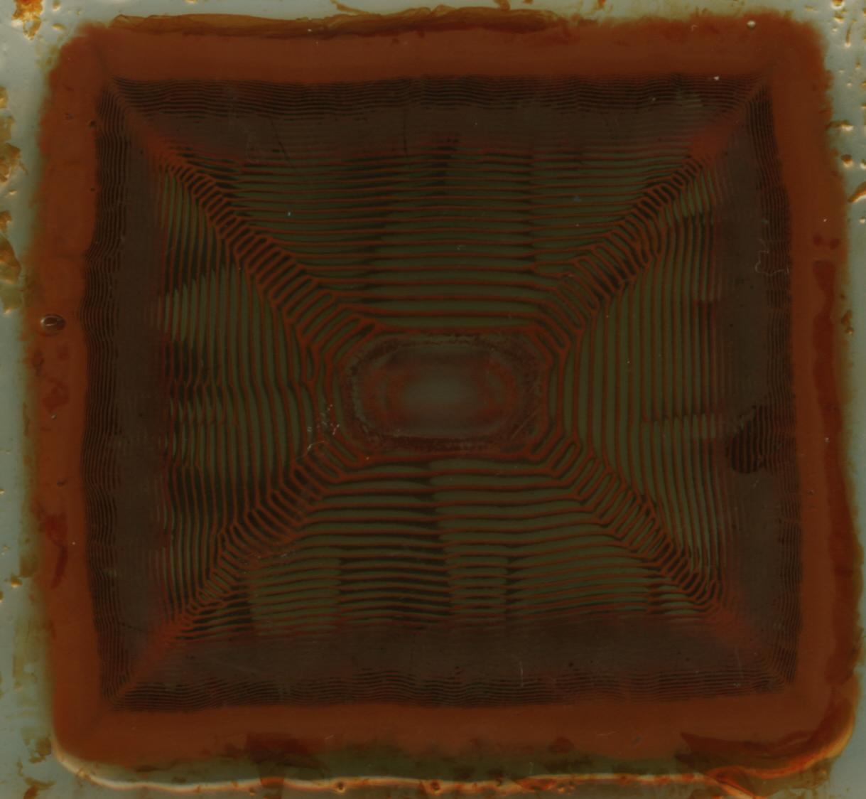 Кольца Лизеганга в желатиновом геле. Liesegang rings