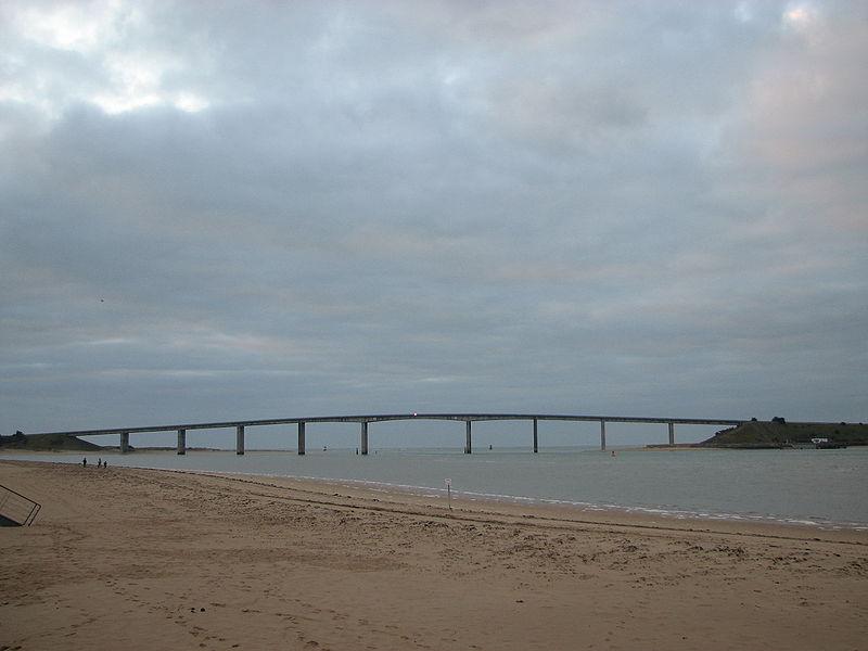 Мост Нуармутье. Pont de Noirmoutier