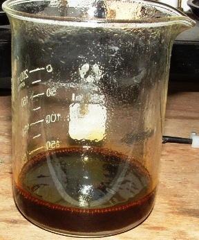 Окисление гидроксида железа (II) до гидроксида железа (III) при стоянии на воздухе