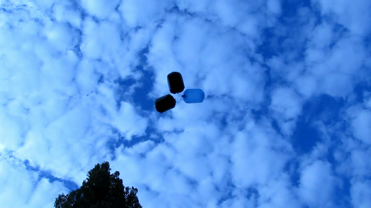 Аэростат с метаном (природным газом) - три пакета на 120 л