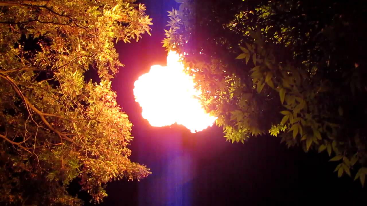 Горение метана (пакет на 160 л; запуск с рук)