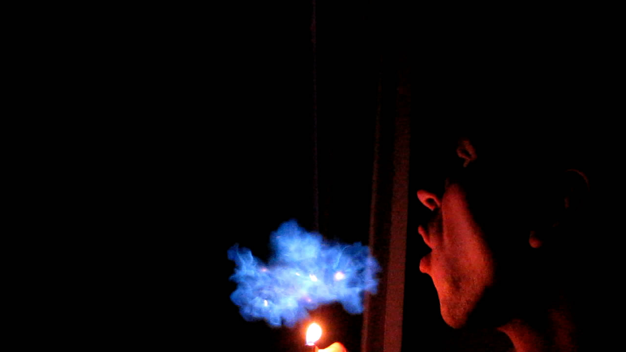 Огненное дыхание (горение метана)