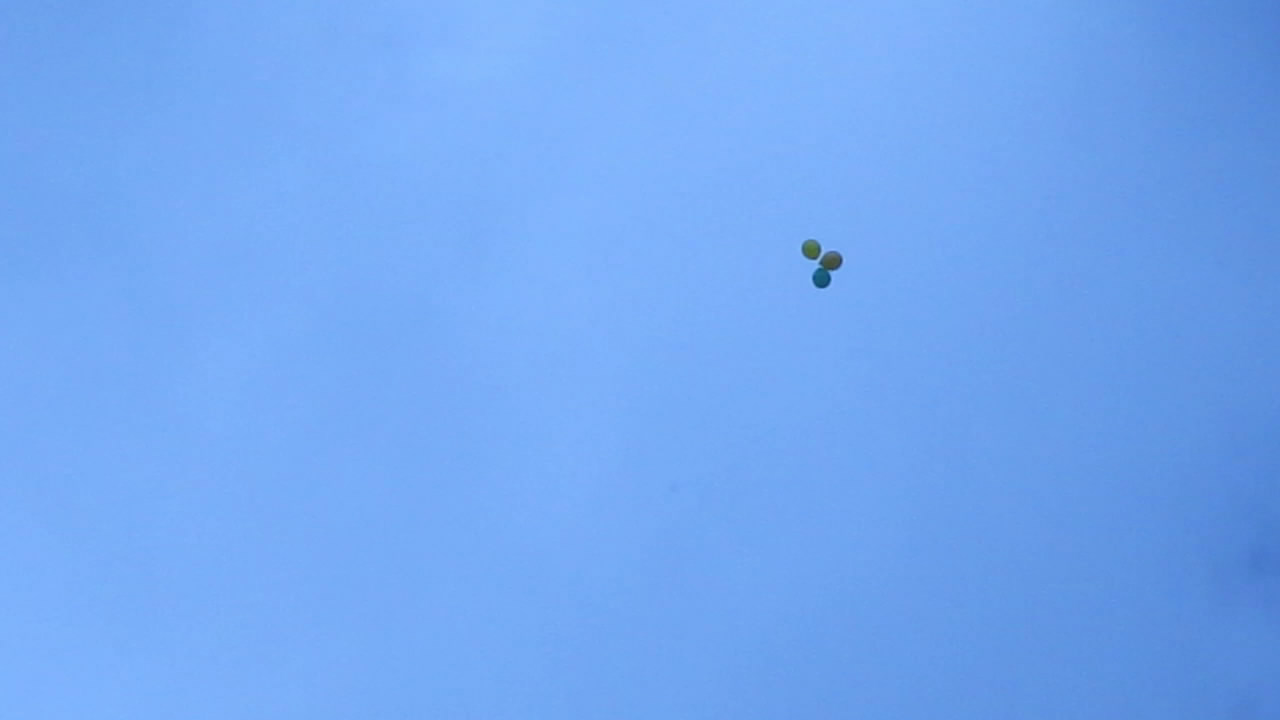 Воздушные шарики с метаном