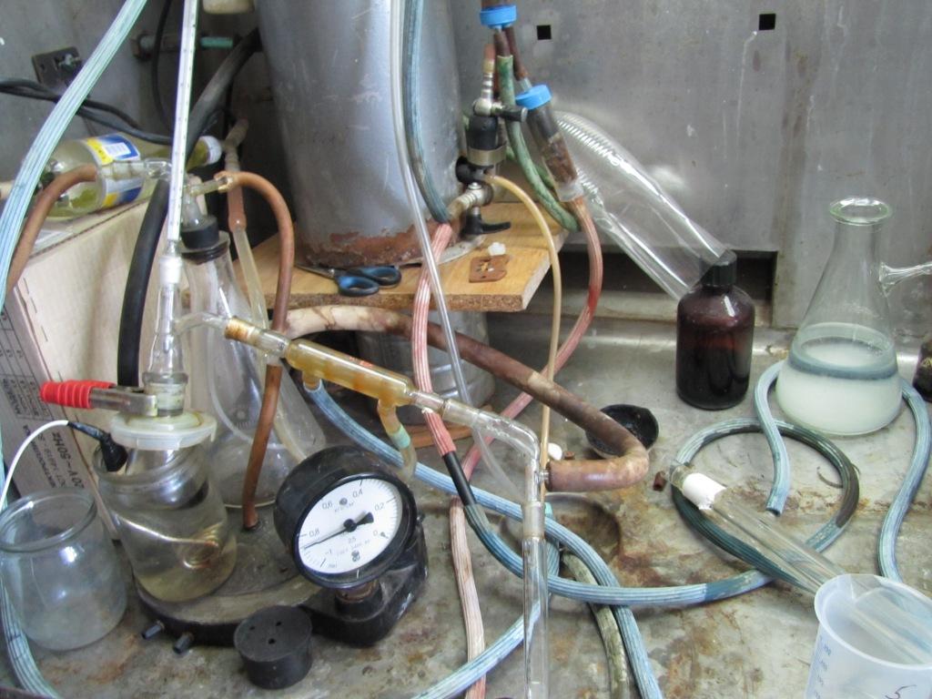 Отгонка спирта под вакуумом из реакционной смеси