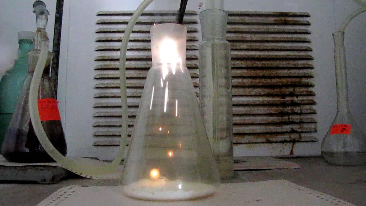 Горение красного фосфора в хлоре