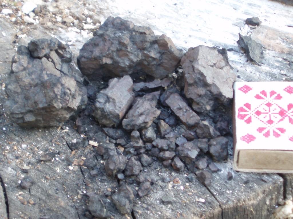 Угольно-рудный агломерат