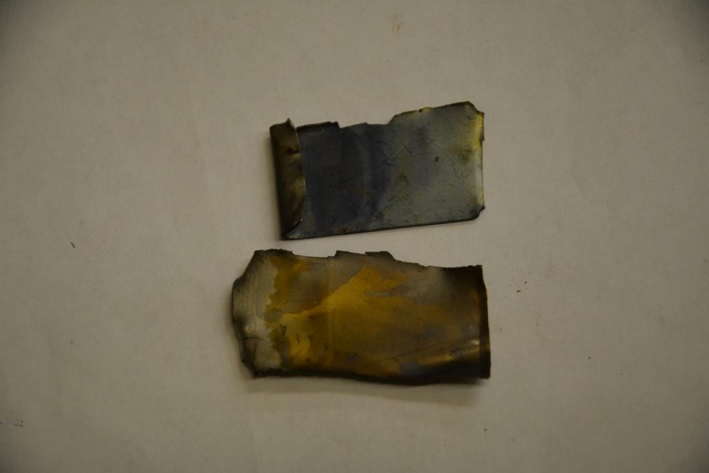 Титановые электроды после электролиза  раствора сульфата натрия