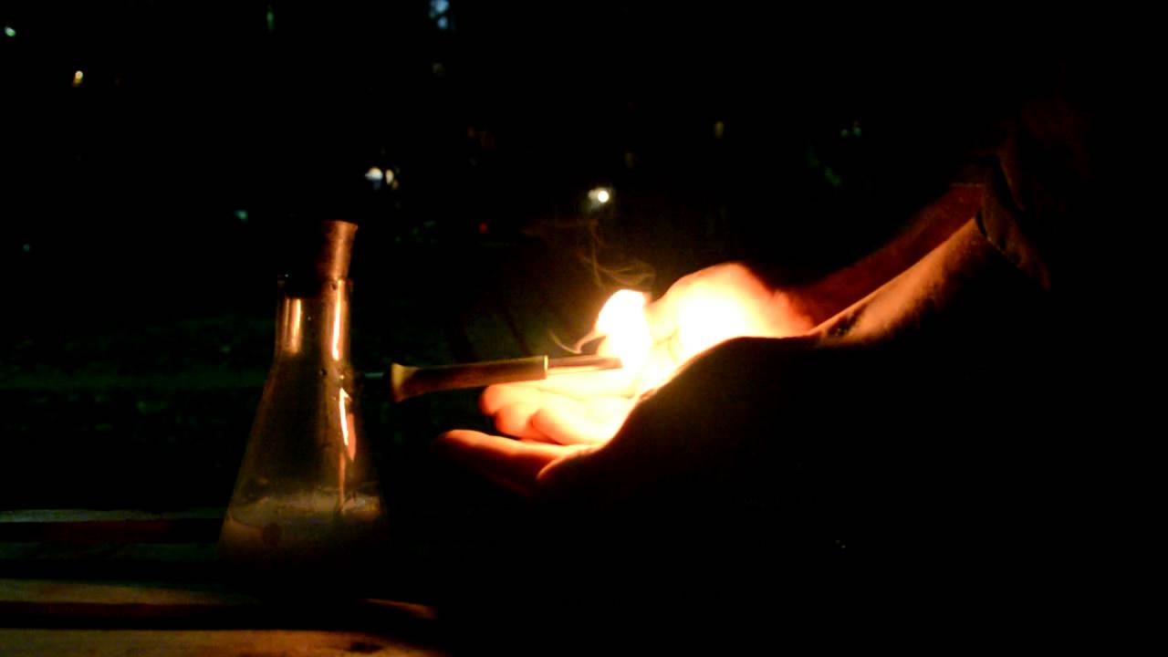 Получение и горение ацетилена