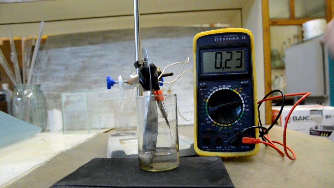 Гальванический элемент медь - цинк - азотная кислота