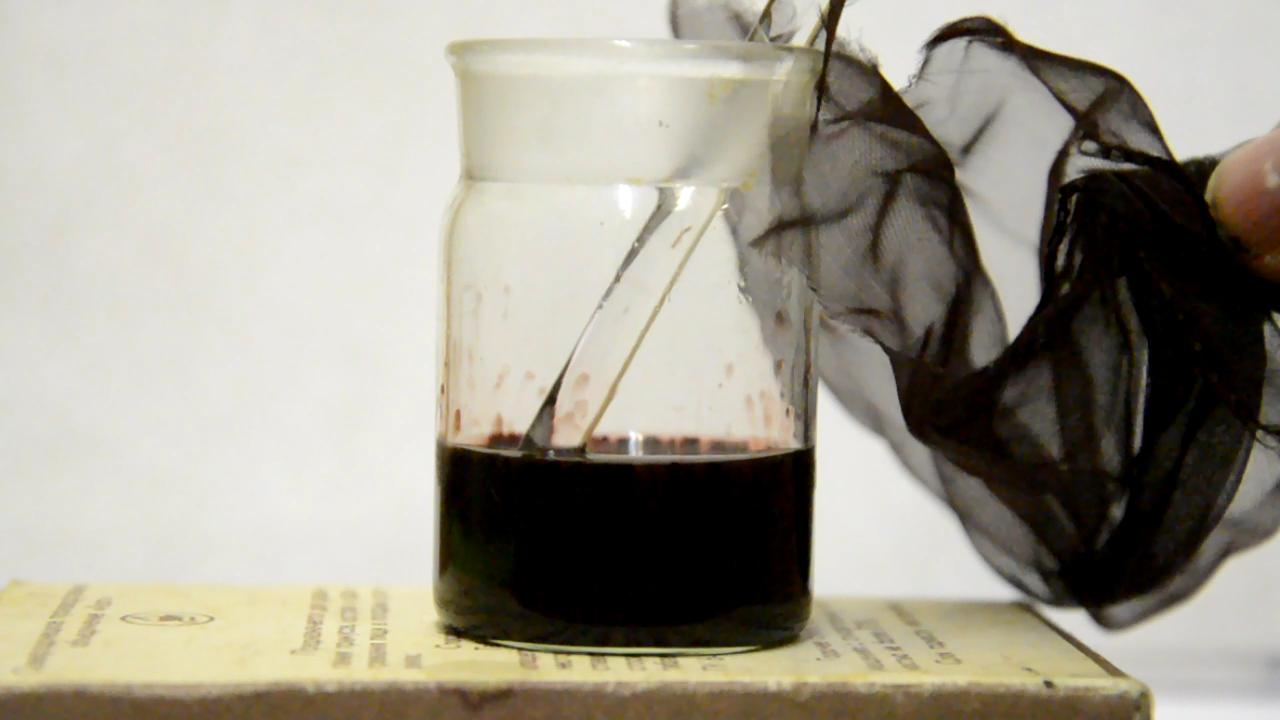 Растворение нейлона в муравьиной кислоте
