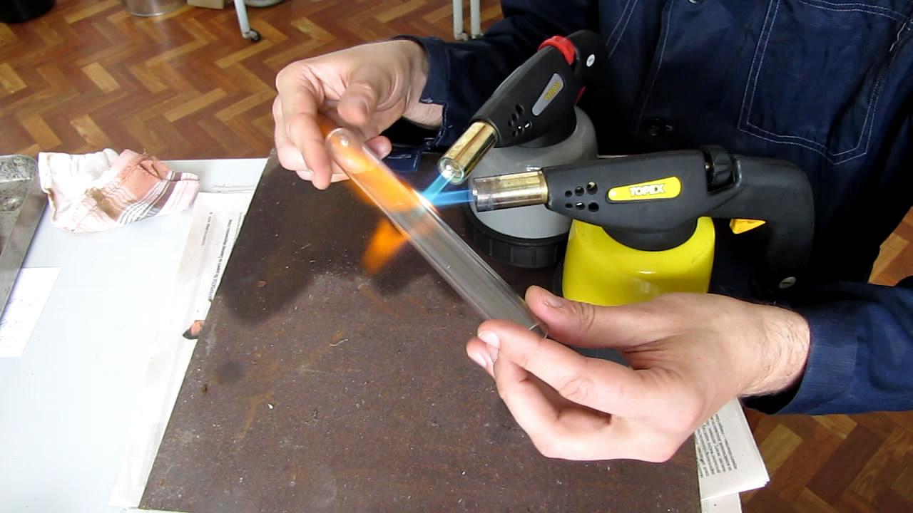 Запаивание натрия в ампулы (неудачный эксперимент). Ampoules with metallic sodium (failed experiment)