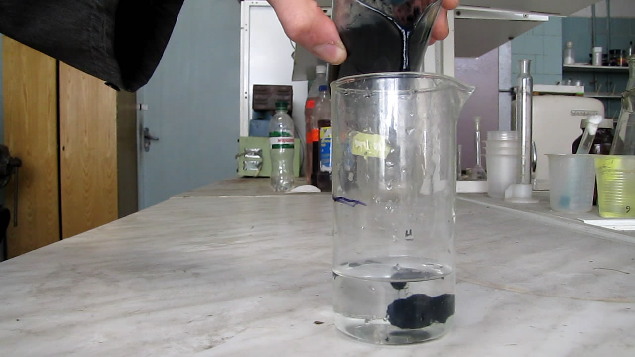 Осаждение целлюлозы кислотой