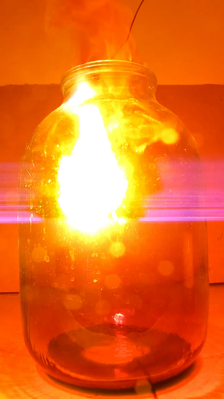 Горение магния в диоксиде азота
