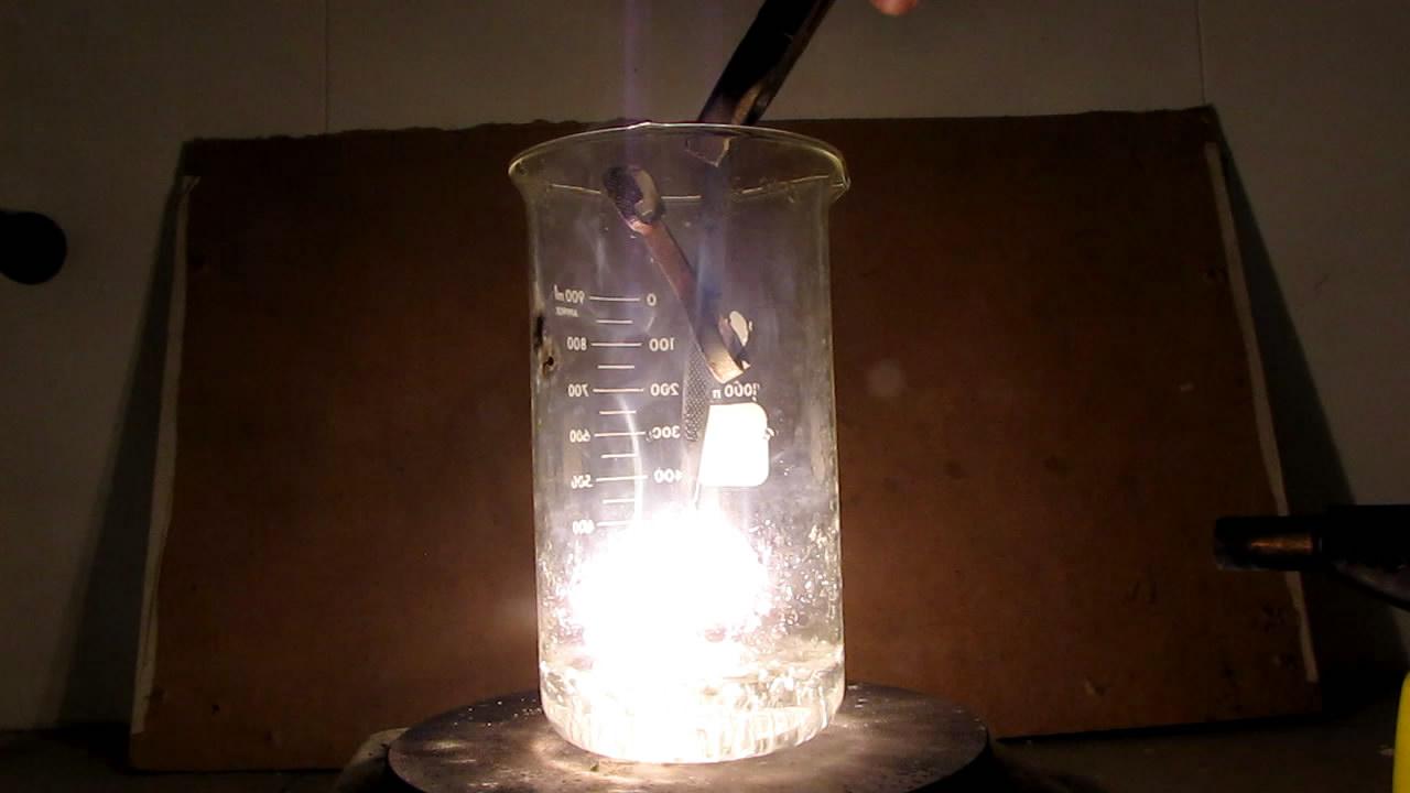 Горение магния в атмосфере водяного пара