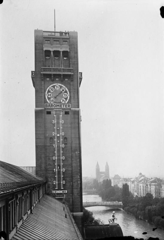 Самый большой термометр в Германии (Мюнхен, 1930)