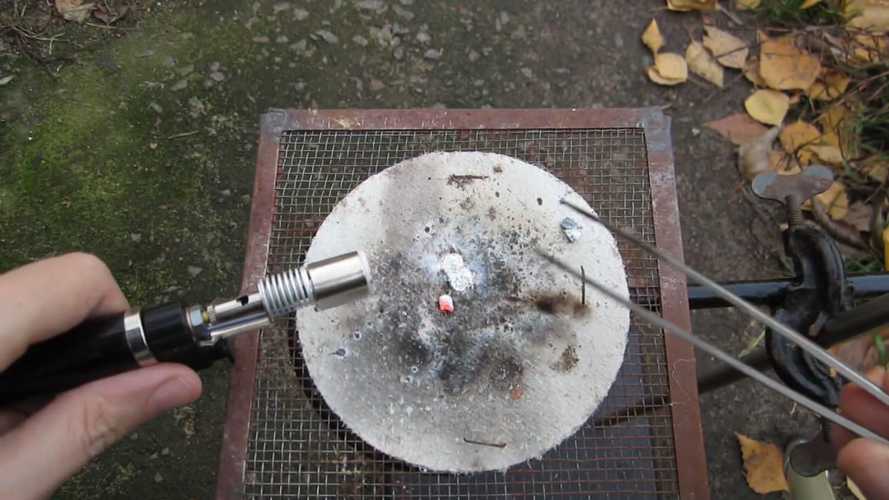 Горение металлического кальция