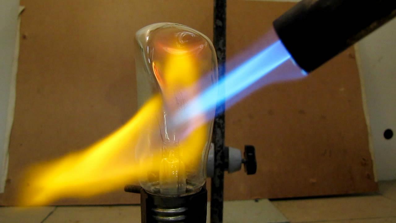 Лампа накаливания и горелка