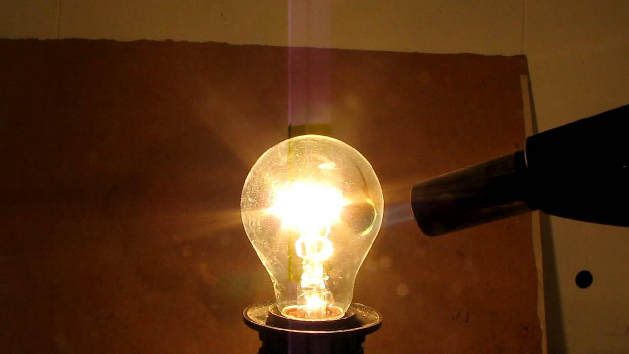 Лампа, горелка и розетка