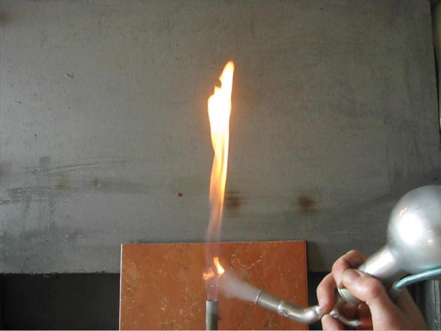 Вспышка смеси алюминиевый порошок - воздух