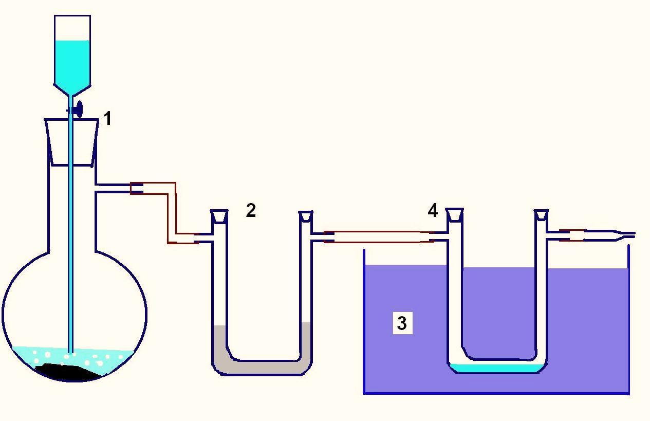 Схема установки для получения жидких газов