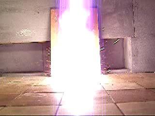 Взрыв смеси магния и перманганата