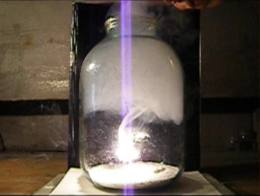 Горение магния в углекислом газе