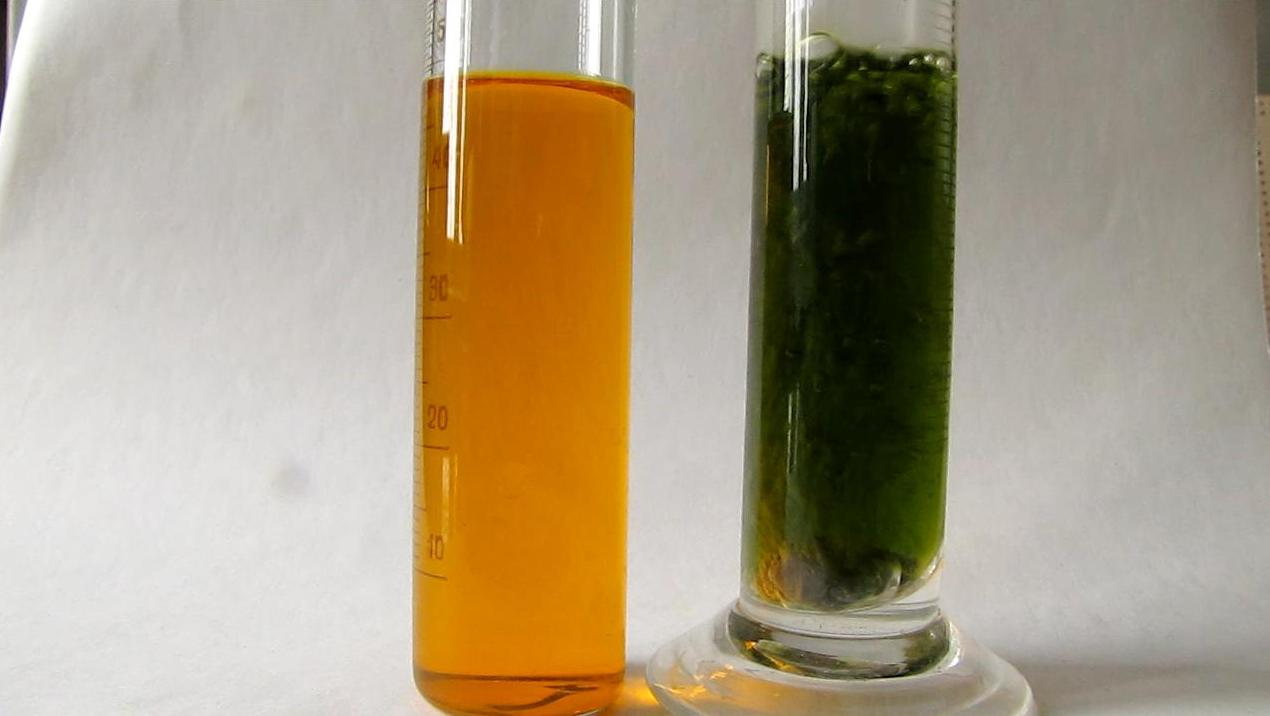 Восстановление бихромата калия атомарным водородом
