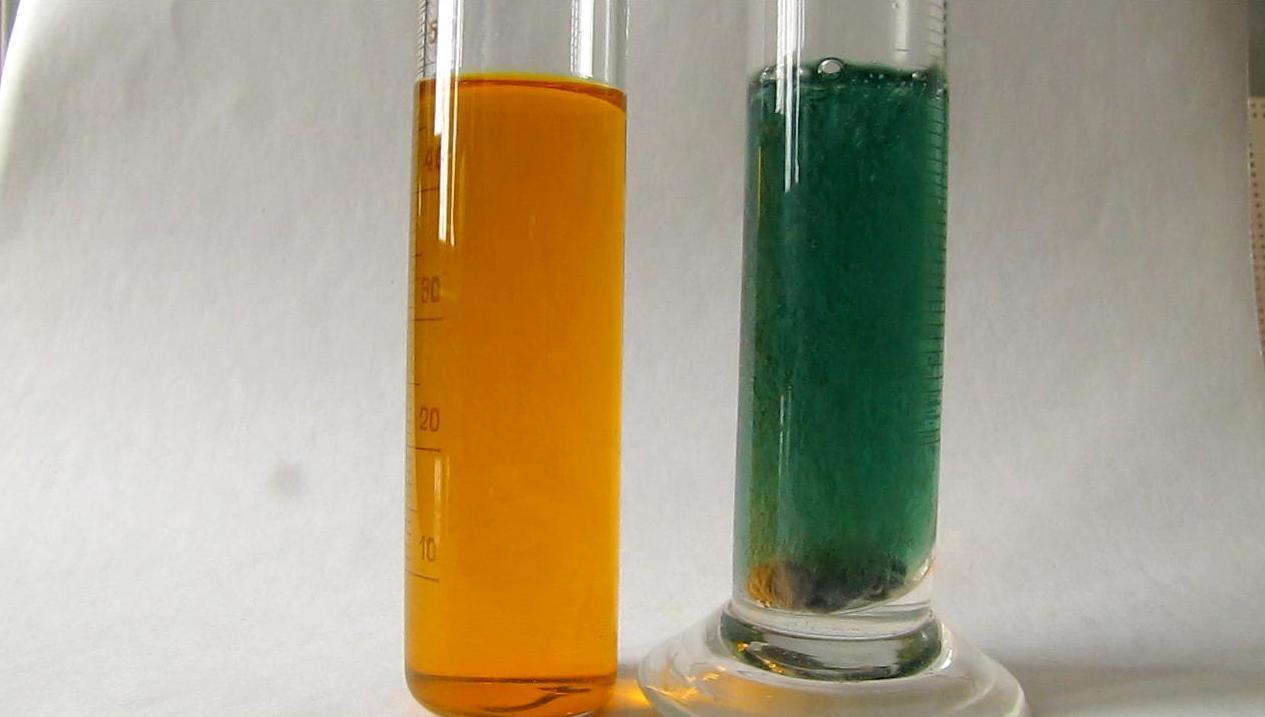 Восстановление бихромата калия атомарным водородом. Reduction of Potassium Dichromate by Nascent Hydrogen.      Окисление хлорида хрома (II) воздухом