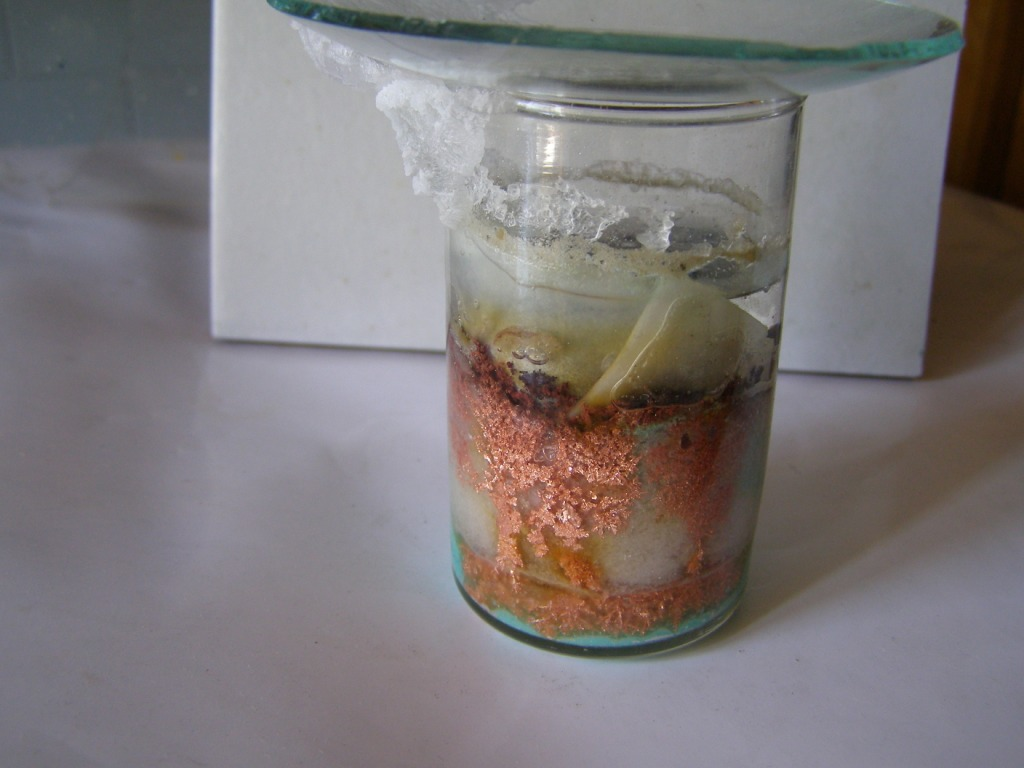 Выращивание кристаллов металлической меди
